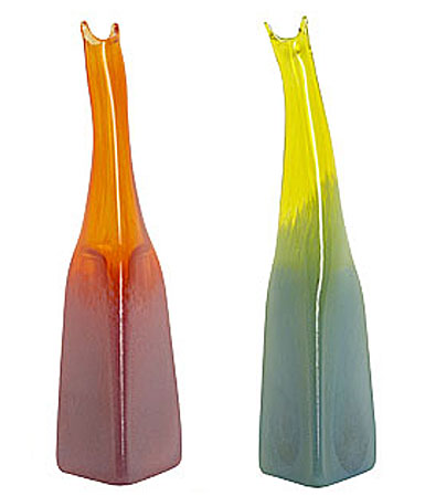 Kosta Boda Joy Vases, Orange/Pink