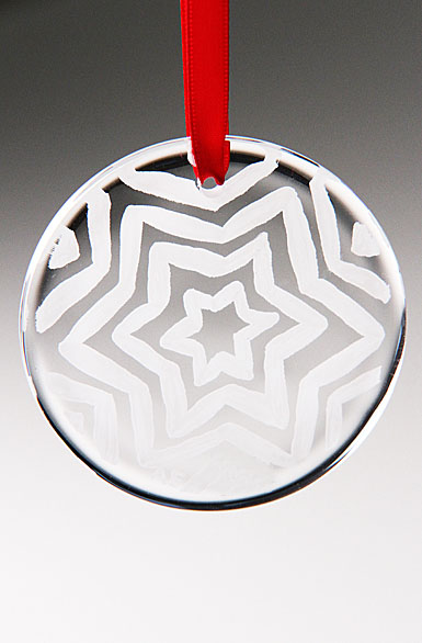 Kosta Boda Glimmer Ornament White Star, 2012