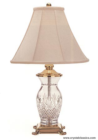 "Waterford Killarney 26"" Lamp and Shade"