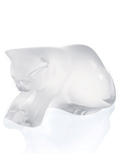 Lalique Figure Kitten With Ball