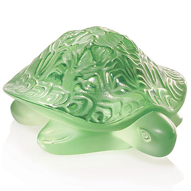 Lalique Sidonie Turtle, green