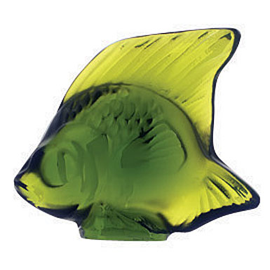 Lalique Lime Green Fish, #9