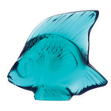 Lalique Light Turquoise Fish, #23