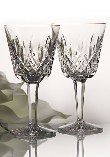 Waterford Lismore Claret, Red Wine Glass, Pair
