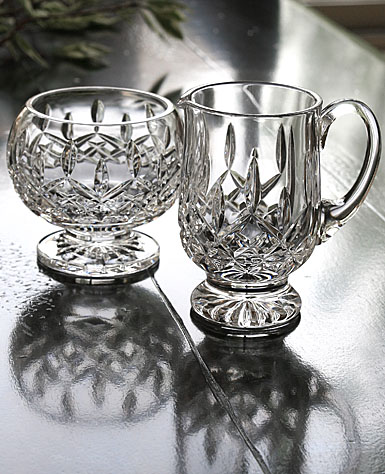 Waterford Lismore Footed Sugar and Creamer Set