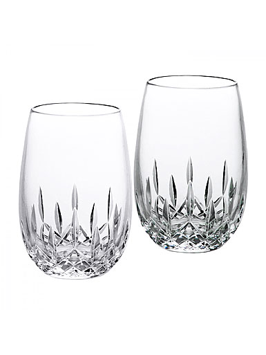 crystal waterford lismore nouveau stemless white wine pair - Waterford Crystal Wine Glasses