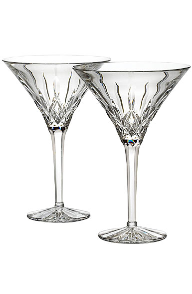 Waterford Lismore Tall Martini, Pair