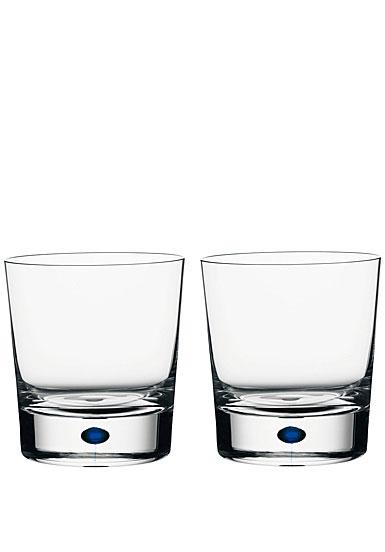 Orrefors Intermezzo Blue DOF, pair