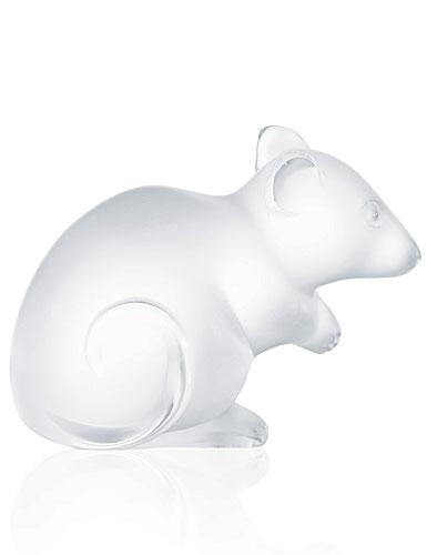Lalique Mouse Sculpture, Clear