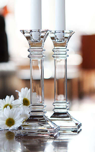 Marquis by Waterford Treviso 8in Candlesticks, Pair