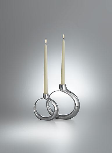 Nambe Globe Candlesticks - Pair