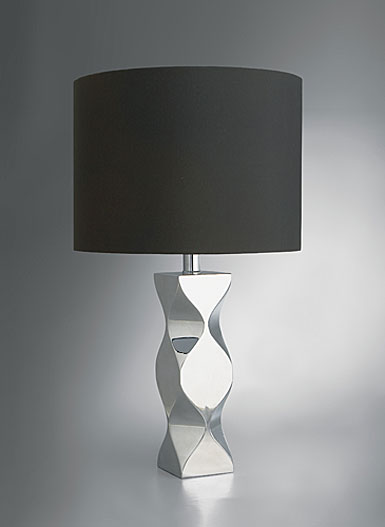 Nambe Kurv Table Lamp, 21in