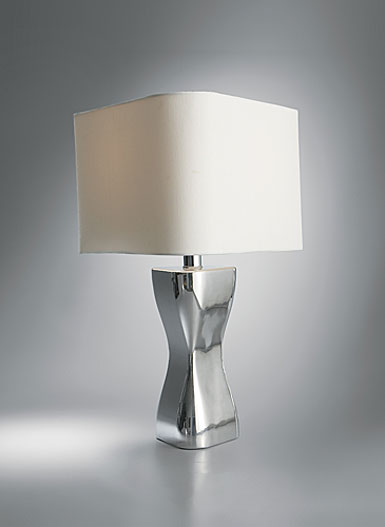 Nambe Virgo Table Lamp, 17in