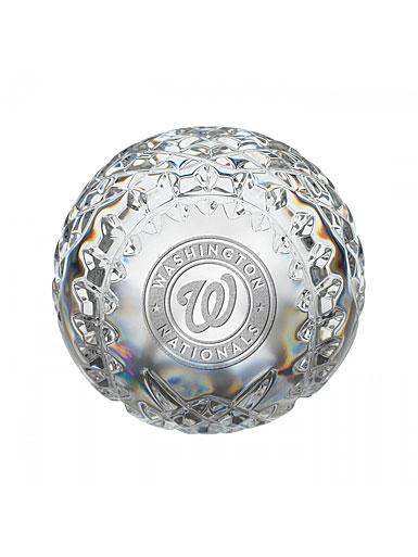 Waterford Washington Nationals Crystal Baseball