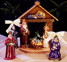 Nambe Christmas Nativity Holy Family, 4 Piece Set