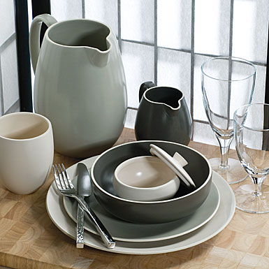 Wedgwood China VW Naturals - Graphite 4-Piece Place Setting