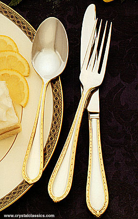 Waterford Powerscourt Gold Flatware, 5-Piece Place Setting