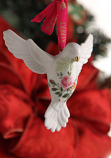 Royal Albert Old Country Roses Dove of Peace Ornament