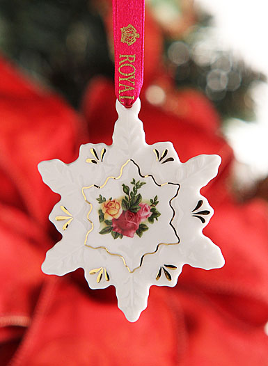 Royal Albert Old Country Roses Snowflake Ornament