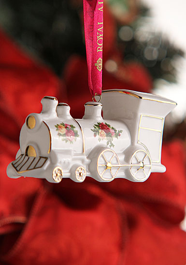 Royal Albert Old Country Roses Figural Train Ornament