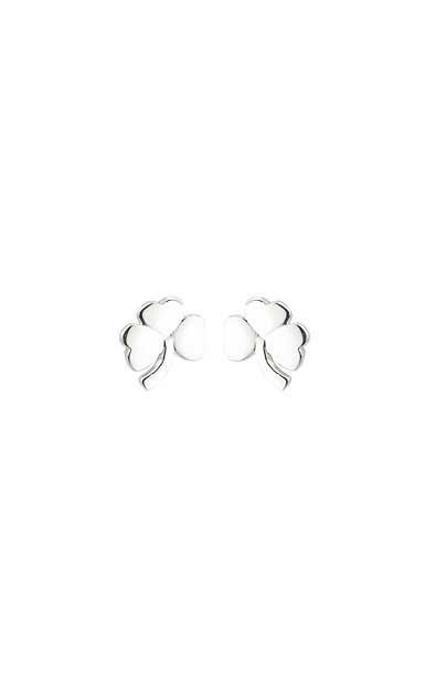 Cashs Sterling Silver Small Shamrock Pierced Earrings Pair