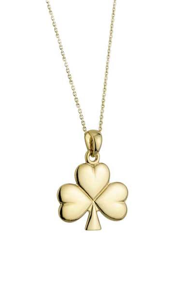 Cashs 18K Gold-Plated Shamrock Pendant Necklace