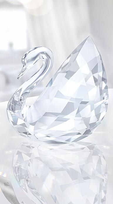 Swarovski Large Swan Sculpture