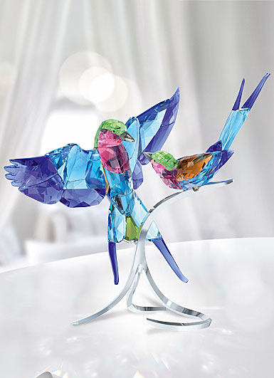 Swarovski Paradise Lilac-Breasted Rollers Sculpture