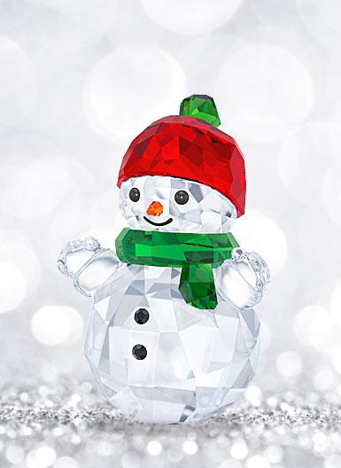Swarovski Snowman With Red Hat