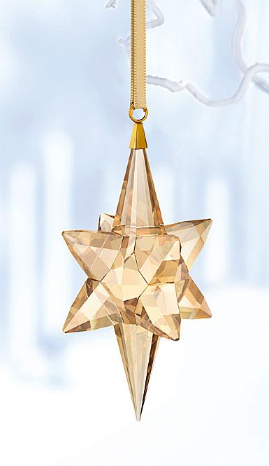 Swarovski 2017 Gold Tone Star Ornament, Large