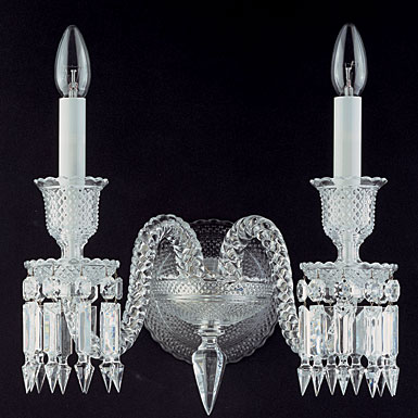 Baccarat Zenith 2 Light Wall Sconce