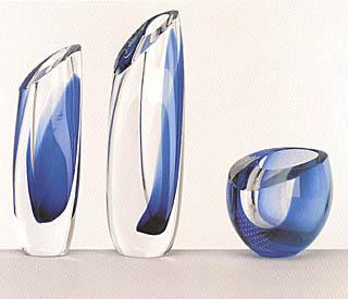 Kosta Boda Seaside Vase Blue