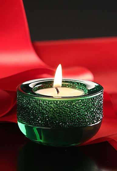 Swarovski Shimmer Tea Light, Green