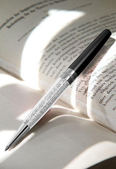 Swarovski Crystalline Stardust Pen, Diamond Crystal and Black