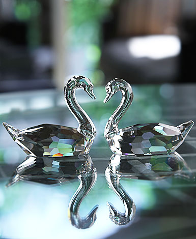 Swarovski Flirting Swans, Set Of Two