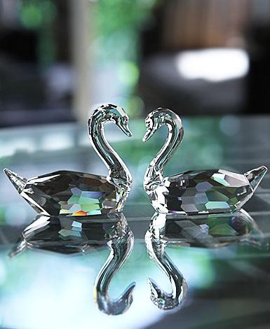 Swarovski Flirting Swans, Pair