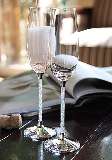 Swarovski Crystalline Toasting Flutes, Pair