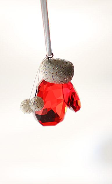 swarovski crystal santa u0026 39 s mitten ornament