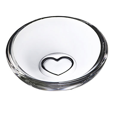 Orrefors Sweetie Bowl, Clear Heart 5 1/2in