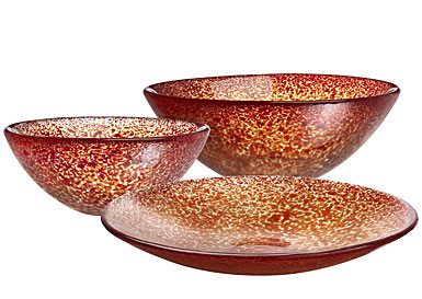 Kosta Boda Tellus Red Bowl, Small
