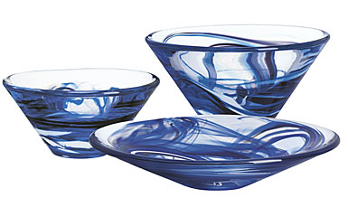Kosta Boda Tempera Bowl, Small Blue