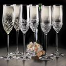 Cashs Ireland, Annestown Celebration Toasting Crystal Flutes, Pair