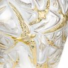 Lalique Hirondelles Grand Gold Vase, Limited Edition Of 130