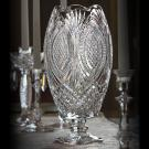 Cashs Ireland, Art Collection Cara Footed Crystal Vase, Limited Edition