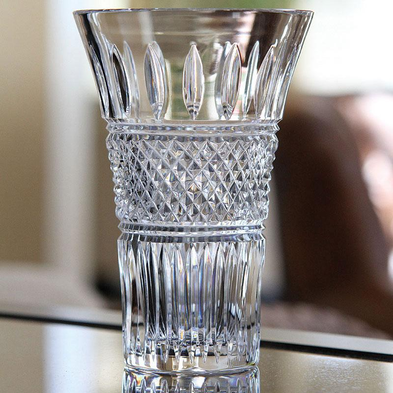 "Waterford Crystal, Irish Lace Flared 10"" Crystal Vase"