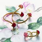 Baccarat Medicis You And Me Bracelet Vermeil Gold, Red Mirror