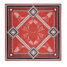 "Baccarat Louxor Silk Twill Scarf Carre 39"" X 39"", Red"