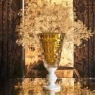 Baccarat Crystal, New Antique Amber Crystal Vase, Limited Edition