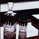 Waterford Crystal, Lismore Black Square Decanter, Black