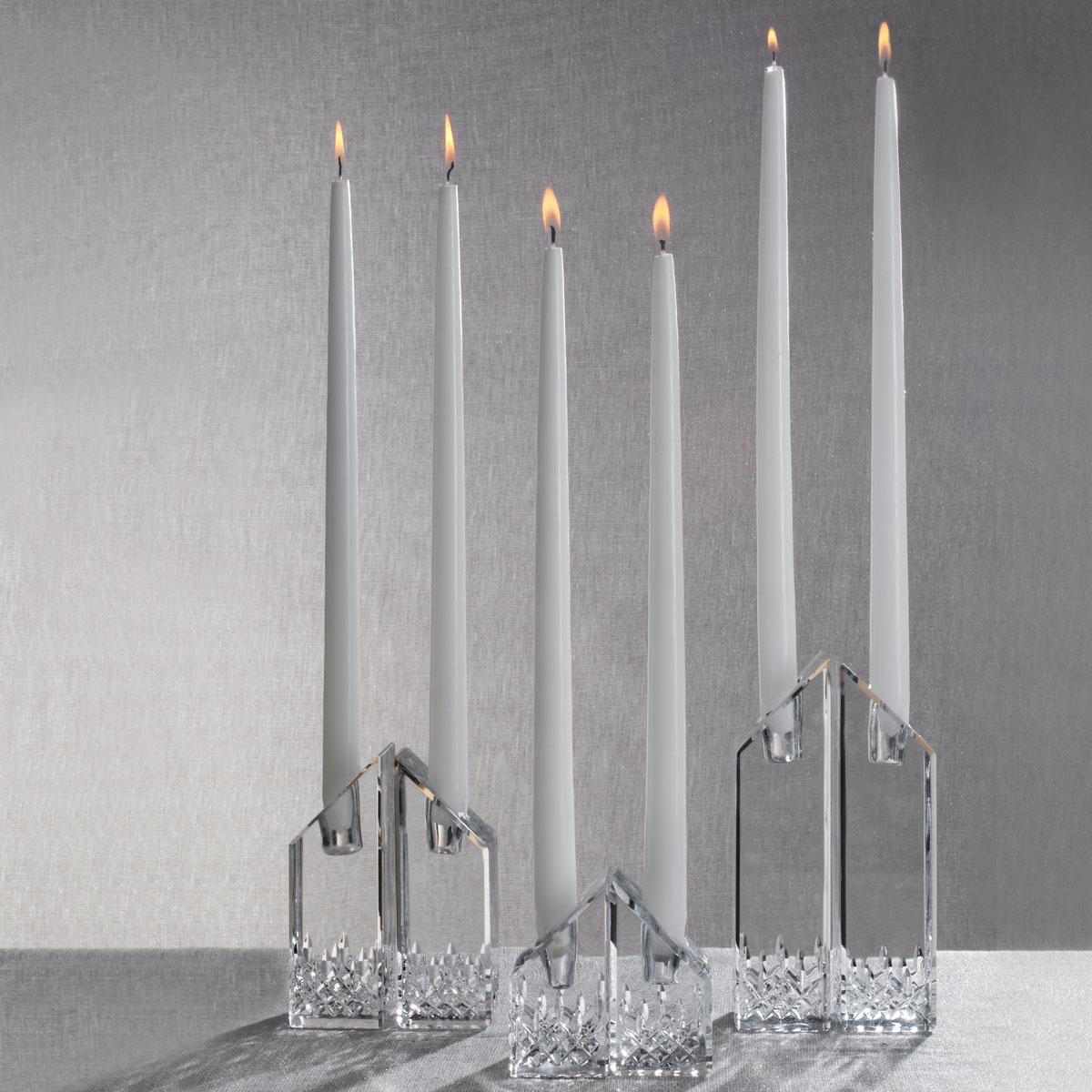"Waterford Lismore Essence Angled 4"" Candlesticks, Pair"